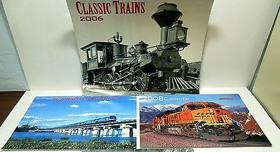 Lot of 3 Railroad Calendars Beautiful Color - Black and White Photos