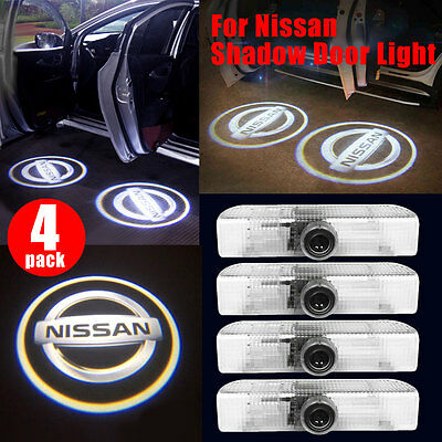 4X Car Door Ghost CREE LED Logo Welcome Light Laser Shadow Projector for Nissan