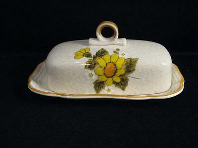 MIKASA EB 802 SUNNY SIDE COVERED QUARTER POUND BUTTER DISH