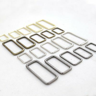 Metal Square Ring Weldedfor strapspursesbagsChoose quantity Size - color usa