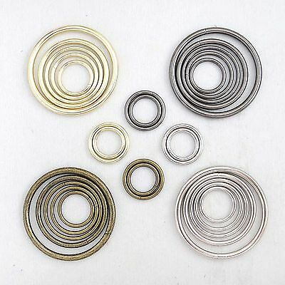 Metal O-Ring Welded for strapspursesbagsChoose quantity Size - color usa