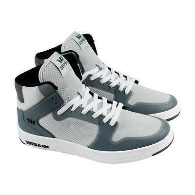 Supra Vaider 2-0 Mens Gray Mesh High Top Lace Up Sneakers Shoes