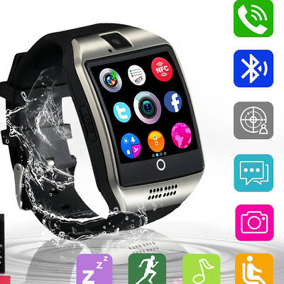 Bluetooth Smart Watch with Camera Waterproof Support iPhone Android Smartphones