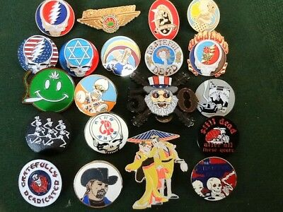 20 DIFFERENT GRATEFUL DEAD RELIX ICONIC PIN ART GREAT ASSTMNT FOR GIFT - VENDING