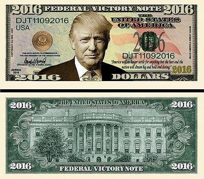 OUR WELCOME PRESIDENT DONALD TRUMP DOLLAR BILL 2 Bills