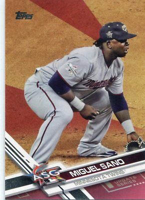 2017 Topps Update Mothers Day Pink US288 Miguel Sano 1750 - NM