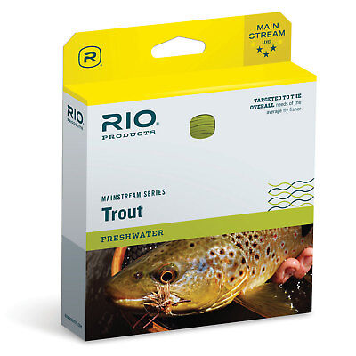 RIO MainStream Trout Floating WF - DT Fly Line - All Sizes