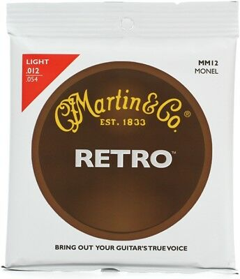 Martin MM12 Retro Acoustic Guitar Strings - 0-012