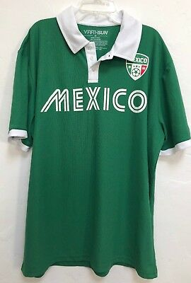 NEW MEXICO  National Team POLO SHIRT Soccer World Cup Football Green  M-XL