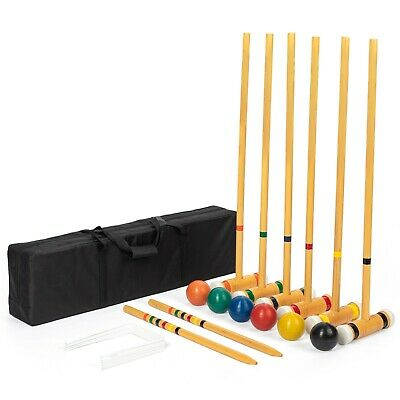 6-player Deluxe Croquet Set - Carry Bag