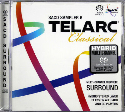 Telarc Classical SACD Sampler 6 Brand NEW CD Super Audio Hybrid CD