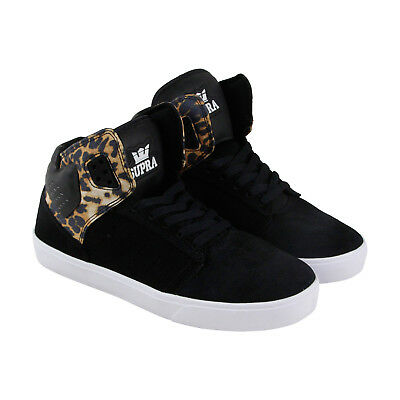 Supra Atom Mens Black Suede - Leather High Top Lace Up Sneakers Shoes 10