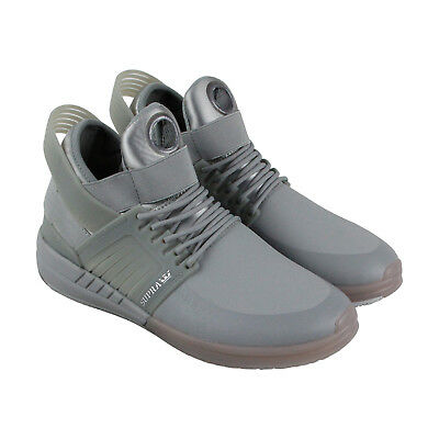 Supra Skytop V Mens Gray Synthetic Athletic Lace Up Training Shoes