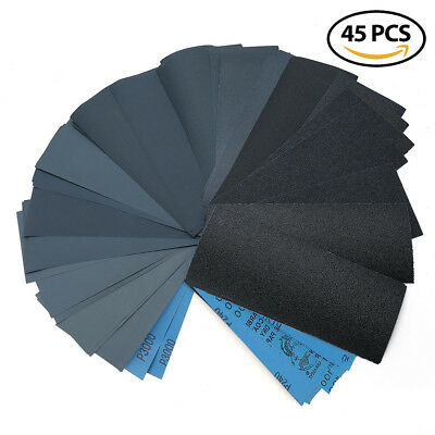 Wet Dry Sandpaper 80 -3000 Grit Assortment 9x3-6 Abrasive Paper Sheet Sanding
