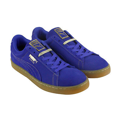 Puma Classic Gf Mens Blue Suede Lace Up Sneakers Shoes