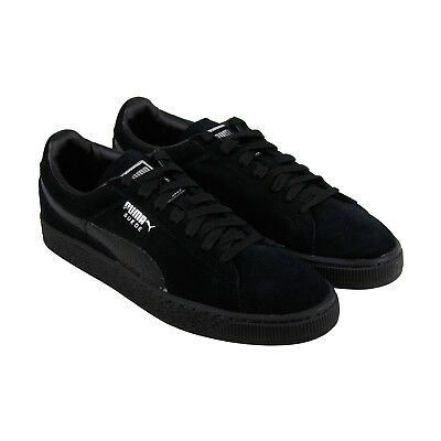 Puma Classic Mono Reptile Mens Black Suede Lace Up Sneakers Shoes