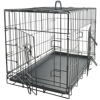 Pet Dog Cat Crate Kennel Cage - Bed Plastic Pad Pan Soft Cozy House Kit Playpen