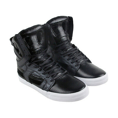 Supra Skytop Ii Mens Black Leather High Top Lace Up Sneakers Shoes