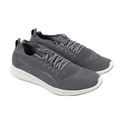Puma Ignite Evoknit 3D Mens Gray Textile Athletic Lace Up Training Shoes