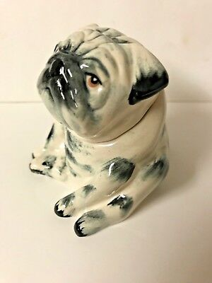 Kevin Francis  Face Pot Brindle Black Pug- Gold stamp- Very rare- 50 made