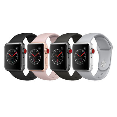 Apple Watch Series 3 GPS - Cellular Aluminum 38mm Case with Sport Loop or Band