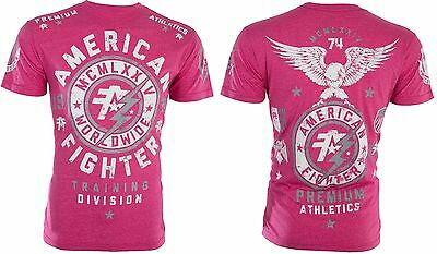 AMERICAN FIGHTER Mens T-Shirt MADISON Eagle PINK Athletic Biker Gym MMA UFC 40