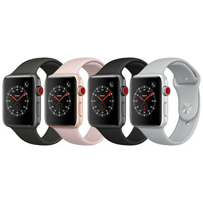 Apple Watch Series 3 GPS - Cellular Aluminum 42mm Case with Sport Loop or Band