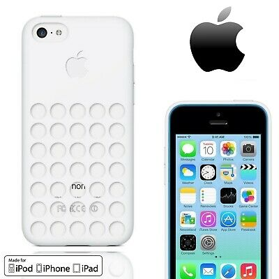 GENUINE Silicone Cover For Apple iPhone 5C Thin Slim Dot Case White Official