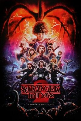 STRANGER THINGS - SEASON 2 - FULL SIZE POSTER Size 24x36 Inches