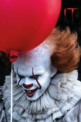 IT - PENNYWISE CLOWN MOVIE POSTER Stephen King 24x36 inches