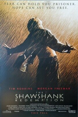 SHAWSHANK REDEMPTION MOVIE POSTER USA Version Size 24 x 36