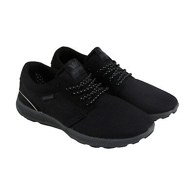 Supra Hammer Run Mens Black Mesh Athletic Lace Up Running Shoes