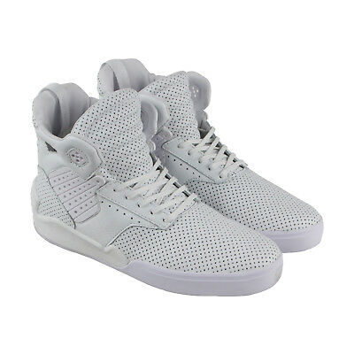 Supra Skytop Iv Mens White Leather High Top Lace Up Sneakers Shoes 13