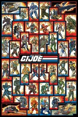 GI JOE POSTER - CHARACTERS - US Animated Version size 24x36