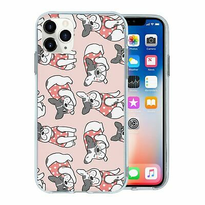 DOGS PINK BULLDOGS TPU BACK CASE COVER FOR MOBILE PHONE S946