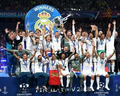 REAL MADRID 2018 European Champions 8 x 10 Photo Poster