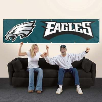 Philadelphia Eagles Applique and Embroidered 8 Foot Banner