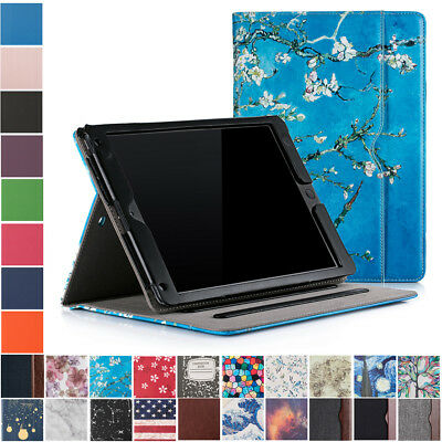 For iPad 9-7 2018  2017  Air  Air 2 Folio Case Stand Smart Cover with Pocket