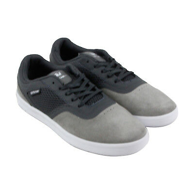 Supra Saint Mens Gray suede - Mesh Sneakers Lace Up Skate Shoes