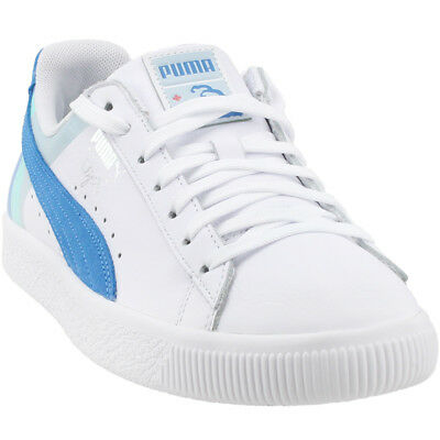 Puma Pink Dolphin Clyde Sneakers- White- Mens