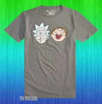 New Rick and Morty Cartoon Gray Network Adult Swim Mens T-Shirt