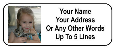 30 Custom Photo  Graphic Personalized Address Labels