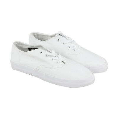 Supra Wrap Mens White Canvas Lace Up Sneakers Shoes
