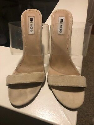 Steve Madden Nude And Clear Shoes
