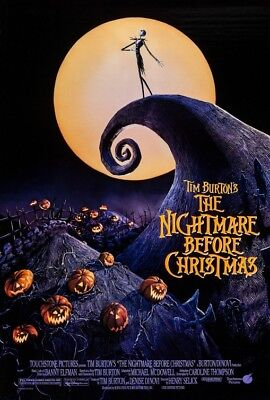 NIGHTMARE BEFORE CHRISTMAS MOVIE POSTER USA Version Size 24 x 36