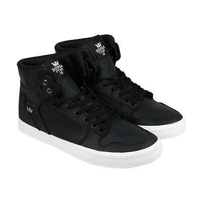 Supra Vaider Mens Black Mesh High Top Lace Up Sneakers Shoes 10-5