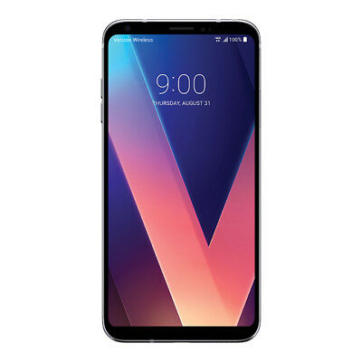 New LG V30 VS996 V30 64GB Silver Verizon Wireless 4G LTE Smartphone