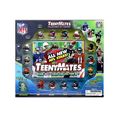 TeenyMates 1 NFL Collectible Figures Player Wide Receiver Collector Gift Set