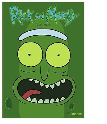 Rick and Morty The Complete Third Season DVD 2018 2-Disc Set NEW
