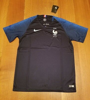 France NIKE Jersey Dri-Fit 2 Stars  Mens Size L World Cup Soccer Champion